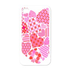 Valentines Day Pink Heart Love Apple Iphone 4 Case (white) by Alisyart