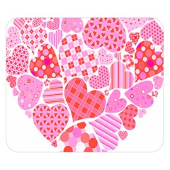 Valentines Day Pink Heart Love Double Sided Flano Blanket (small)  by Alisyart