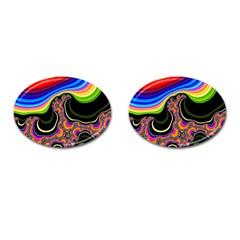 Wave Color Cufflinks (oval) by Alisyart