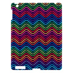 Wave Chevron Rainbow Color Apple Ipad 3/4 Hardshell Case by Alisyart