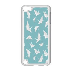 Origamim Paper Bird Blue Fly Apple Ipod Touch 5 Case (white) by Alisyart