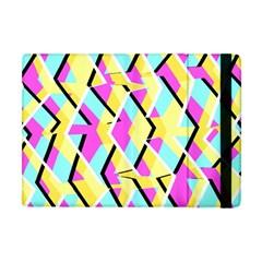 Bright Zig Zag Scribble Yellow Pink Apple Ipad Mini Flip Case by Alisyart