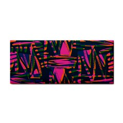 Bright Zig Zag Scribble Pink Green Cosmetic Storage Cases by Alisyart