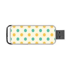 Circle Blue Orange Portable Usb Flash (two Sides) by Alisyart