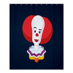 Clown Face Red Yellow Feat Mask Kids Shower Curtain 60  X 72  (medium)  by Alisyart