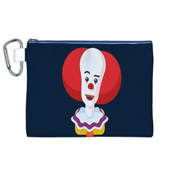 Clown Face Red Yellow Feat Mask Kids Canvas Cosmetic Bag (xl) by Alisyart