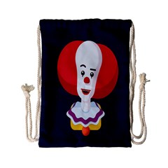 Clown Face Red Yellow Feat Mask Kids Drawstring Bag (small) by Alisyart