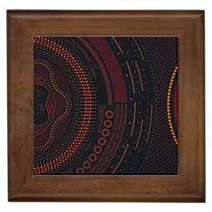 Creative Direction Illustration Graphic Gold Red Purple Circle Star Framed Tiles by Alisyart