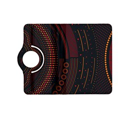 Creative Direction Illustration Graphic Gold Red Purple Circle Star Kindle Fire Hd (2013) Flip 360 Case by Alisyart