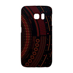 Creative Direction Illustration Graphic Gold Red Purple Circle Star Galaxy S6 Edge by Alisyart