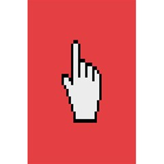 Cursor Index Finger White Red 5 5  X 8 5  Notebooks by Alisyart