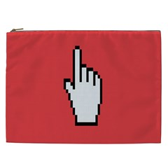 Cursor Index Finger White Red Cosmetic Bag (xxl)  by Alisyart