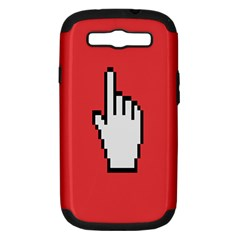 Cursor Index Finger White Red Samsung Galaxy S Iii Hardshell Case (pc+silicone) by Alisyart