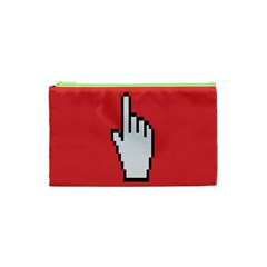 Cursor Index Finger White Red Cosmetic Bag (xs) by Alisyart