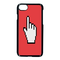 Cursor Index Finger White Red Apple Iphone 7 Seamless Case (black) by Alisyart