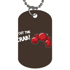 Cutthe Crab Red Brown Animals Beach Sea Dog Tag (one Side) by Alisyart