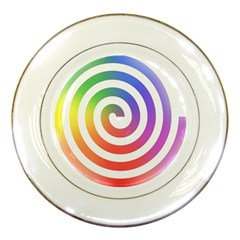 Circle Purple Blue Red Green Yellow Porcelain Plates by Alisyart