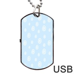 Circle Blue White Dog Tag Usb Flash (one Side) by Alisyart