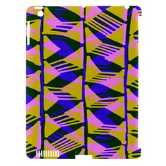 Crazy Zig Zags Blue Yellow Apple Ipad 3/4 Hardshell Case (compatible With Smart Cover) by Alisyart
