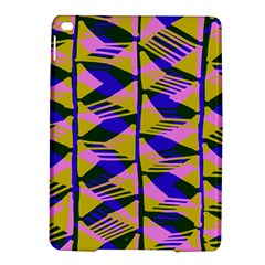 Crazy Zig Zags Blue Yellow Ipad Air 2 Hardshell Cases by Alisyart