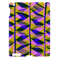 Crazy Zig Zags Blue Yellow Apple Ipad 3/4 Hardshell Case by Alisyart