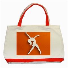 Dance Dancing Orange Girl Classic Tote Bag (red) by Alisyart