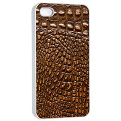 Crocodile Skin Apple Iphone 4/4s Seamless Case (white) by Alisyart