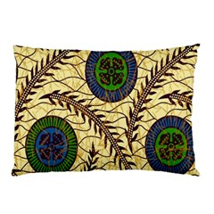 Fabrick Batik Brown Blue Green Leaf Flower Floral Pillow Case by Alisyart
