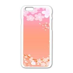 Flower Season Pink Purple Red Apple Iphone 6/6s White Enamel Case by Alisyart