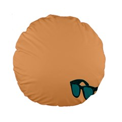 Glasses Blue Orange Standard 15  Premium Round Cushions by Alisyart