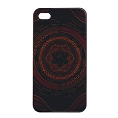 Hand Illustration Graphic Fabric Woven Red Purple Yellow Apple Iphone 4/4s Seamless Case (black) by Alisyart