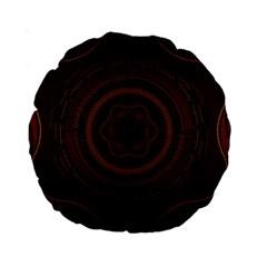 Hand Illustration Graphic Fabric Woven Red Purple Yellow Standard 15  Premium Round Cushions by Alisyart
