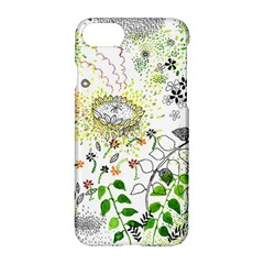 Flower Flowar Sunflower Rose Leaf Green Yellow Picture Apple Iphone 7 Hardshell Case by Alisyart