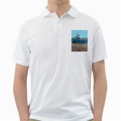 Goats on a Pickup Truck Golf Shirts by theunrulyartist