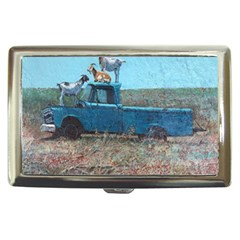 Goats On A Pickup Truck Cigarette Money Cases by theunrulyartist