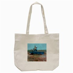 Goats On A Pickup Truck Tote Bag (cream) by theunrulyartist