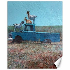 Goats on a Pickup Truck Canvas 16  x 20