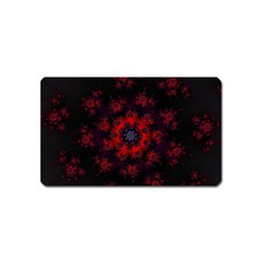 Fractal Abstract Blossom Bloom Red Magnet (name Card)