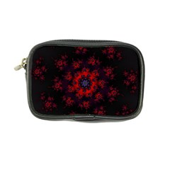 Fractal Abstract Blossom Bloom Red Coin Purse