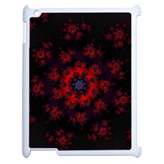 Fractal Abstract Blossom Bloom Red Apple Ipad 2 Case (white) by Amaryn4rt