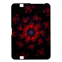Fractal Abstract Blossom Bloom Red Kindle Fire Hd 8 9  by Amaryn4rt