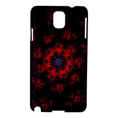 Fractal Abstract Blossom Bloom Red Samsung Galaxy Note 3 N9005 Hardshell Case by Amaryn4rt