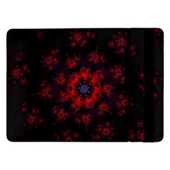 Fractal Abstract Blossom Bloom Red Samsung Galaxy Tab Pro 12 2  Flip Case by Amaryn4rt