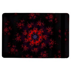 Fractal Abstract Blossom Bloom Red Ipad Air Flip by Amaryn4rt