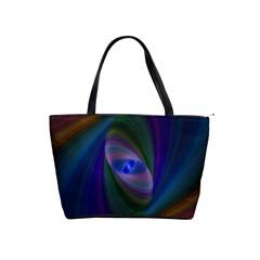 Ellipse Fractal Computer Generated Shoulder Handbags by Amaryn4rt