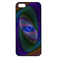 Ellipse Fractal Computer Generated Apple Iphone 5 Seamless Case (black)