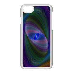Ellipse Fractal Computer Generated Apple Iphone 7 Seamless Case (white) by Amaryn4rt