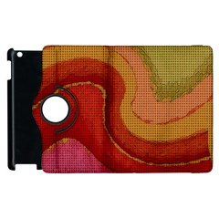 Candy Cloth Apple Ipad 3/4 Flip 360 Case by CannyMittsDesigns