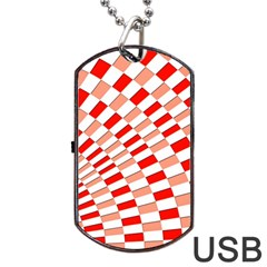 Graphics Pattern Design Abstract Dog Tag Usb Flash (one Side) by Amaryn4rt