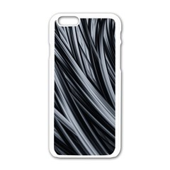 Fractal Mathematics Abstract Apple Iphone 6/6s White Enamel Case by Amaryn4rt